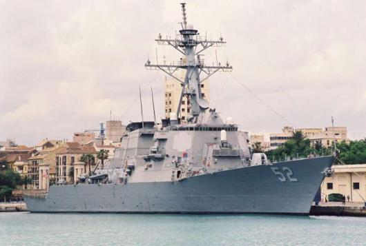 Ракетный эсминец USS «Barry» (DDG-52), Малага