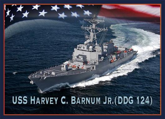 Ракетный эсминец USS «Harvey C. Barnum Jr.» (DDG-124)