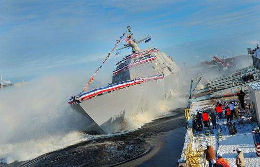 USS «Milwaukee» (LCS 5), спуск на воду