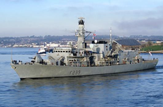 Фрегат HMS «Richmond» (F239), Плимут