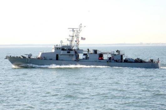 USS «Thunderbolt» (PC-12) покидает Норфолк