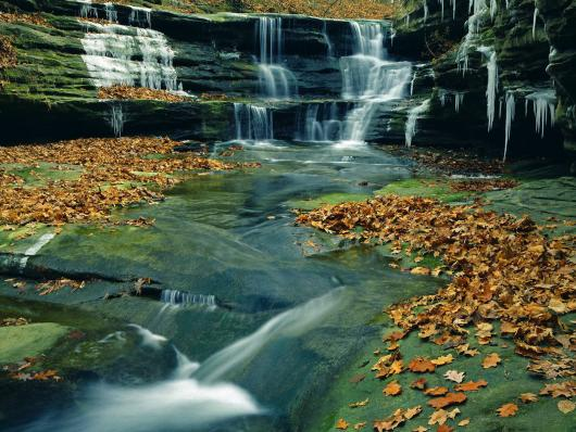 Водопад каньона Starved Rock